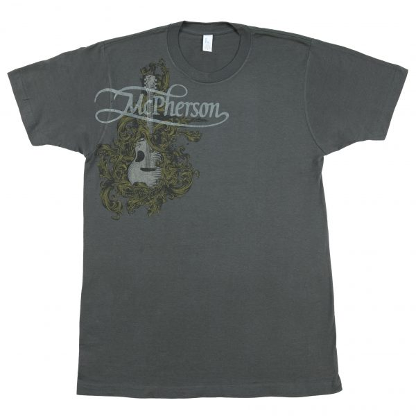 Front - Charcoal Scroll T-Shirt